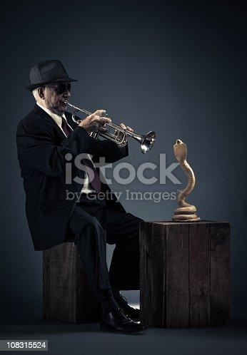 a snake into jazz.