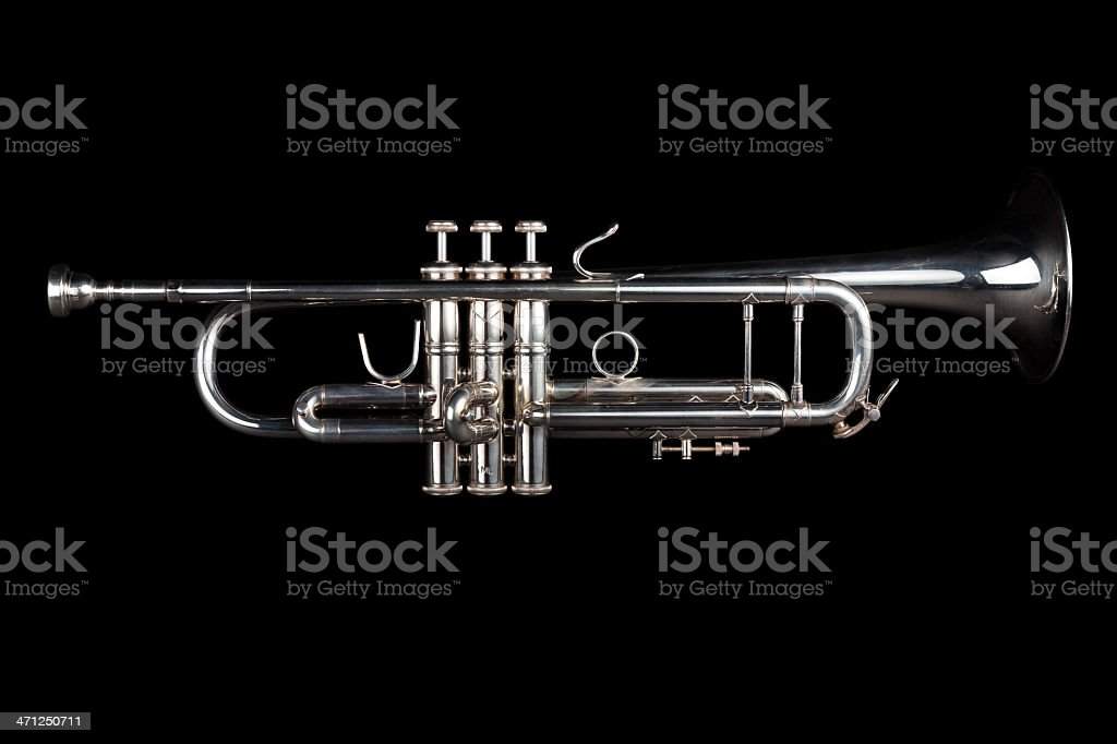 Jazz trumpet with clipping paths royalty-free stock photo