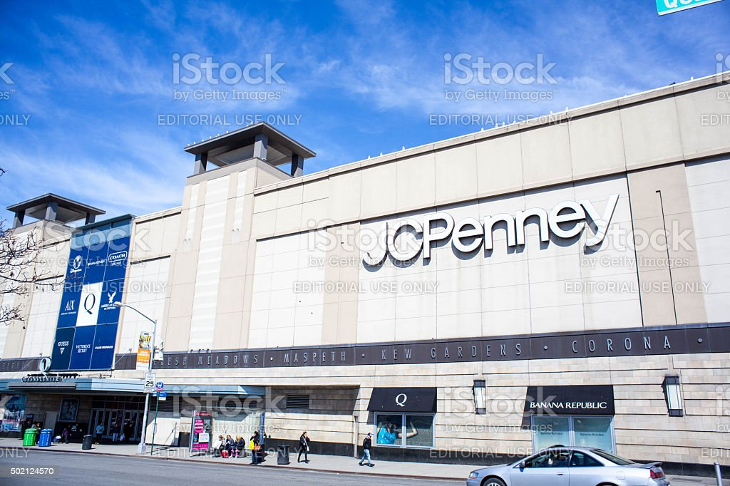 JCPenney Box Store in Queens Center mall. Elmhurst. stock photo