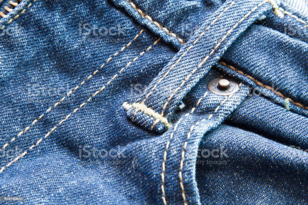 Jean Belt loop stock photo