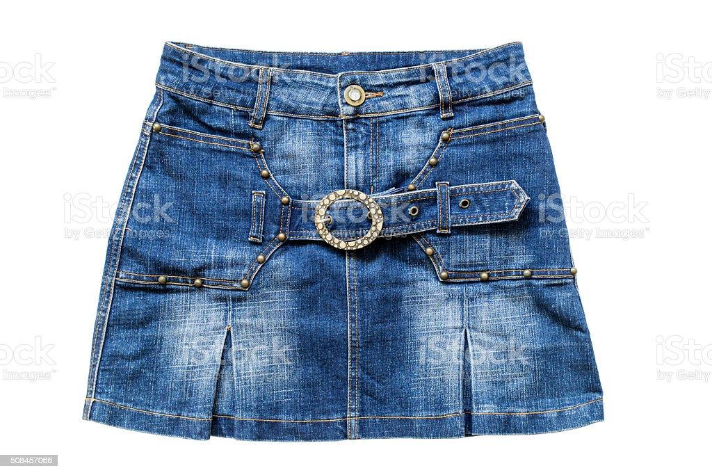 Jean mini skirt stock photo