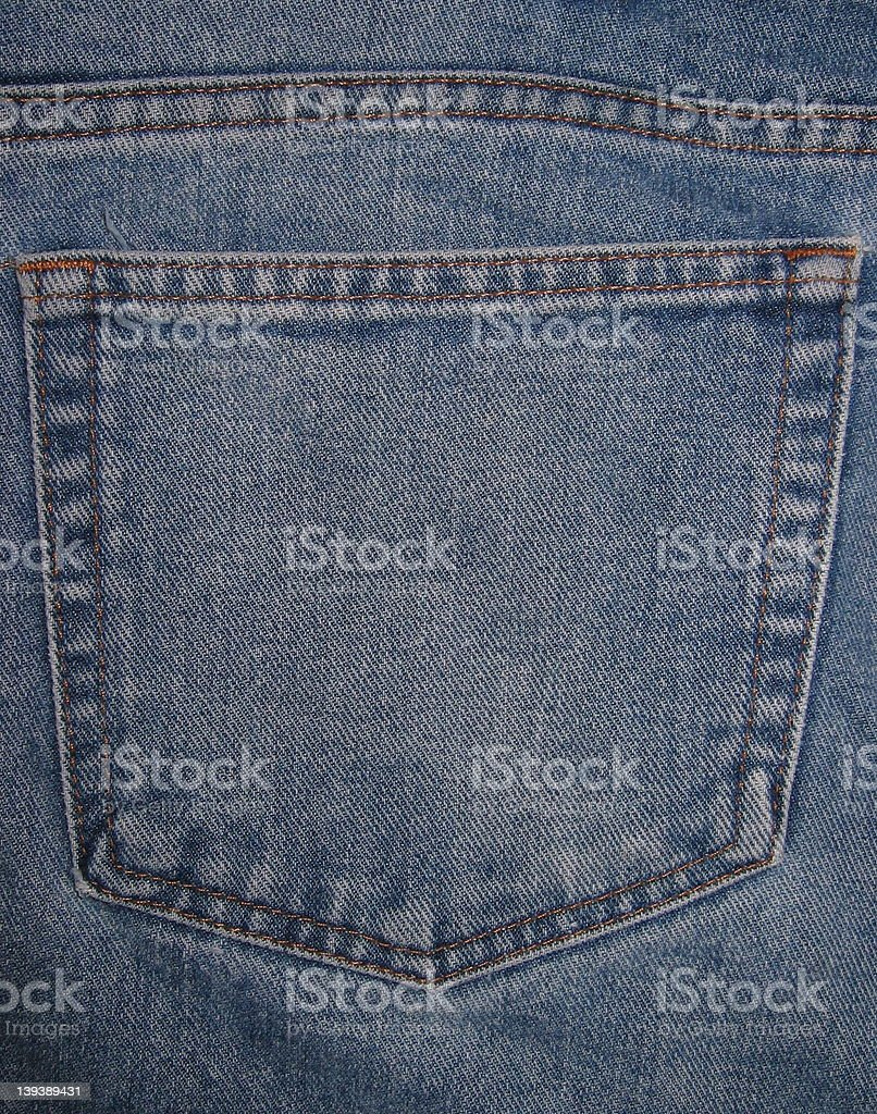 Jean Pocket royalty-free stock photo