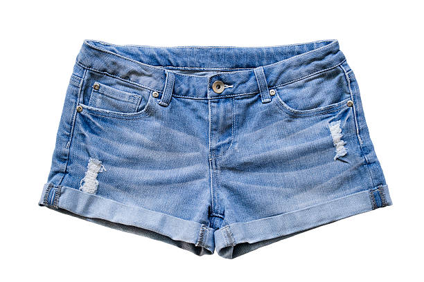 jean shorts - jean shorts stock photos and pictures