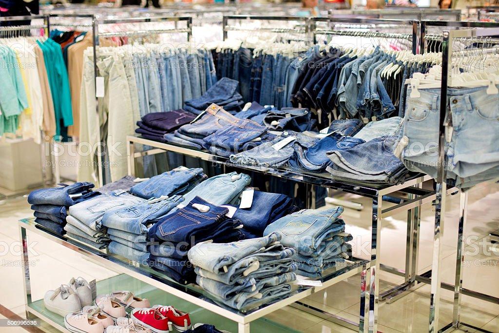 Jean store stock photo