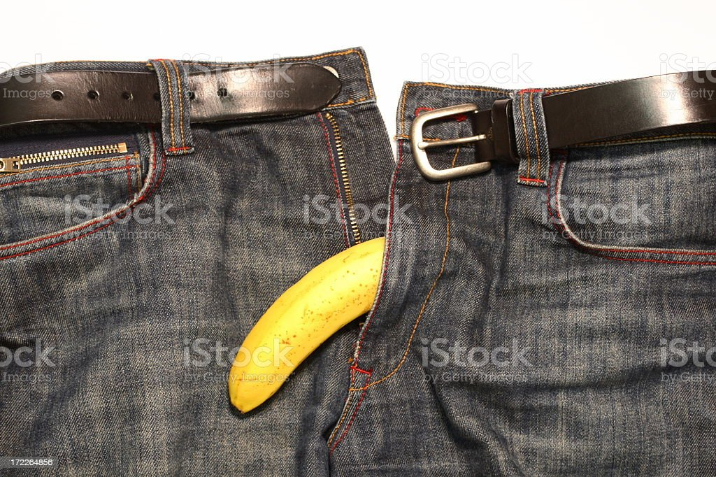 Jeans and Banana royalty-free stock photo