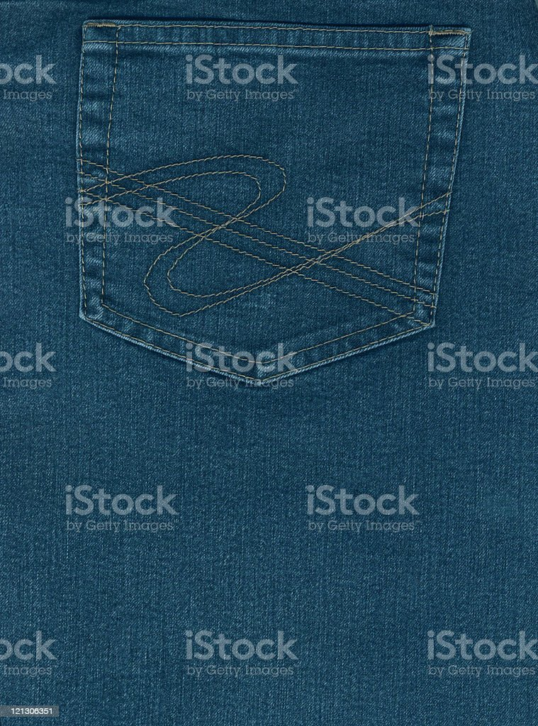 jeans and pocket royalty-free stock photo