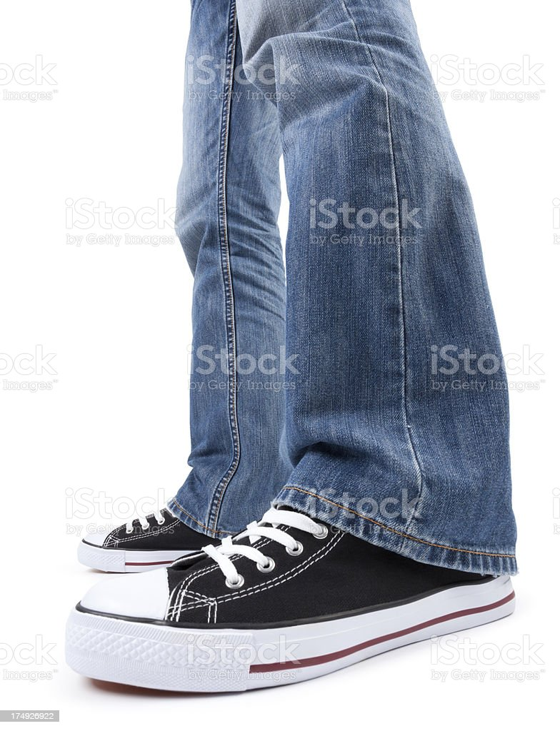 Jeans and sneaker royalty-free stock photo