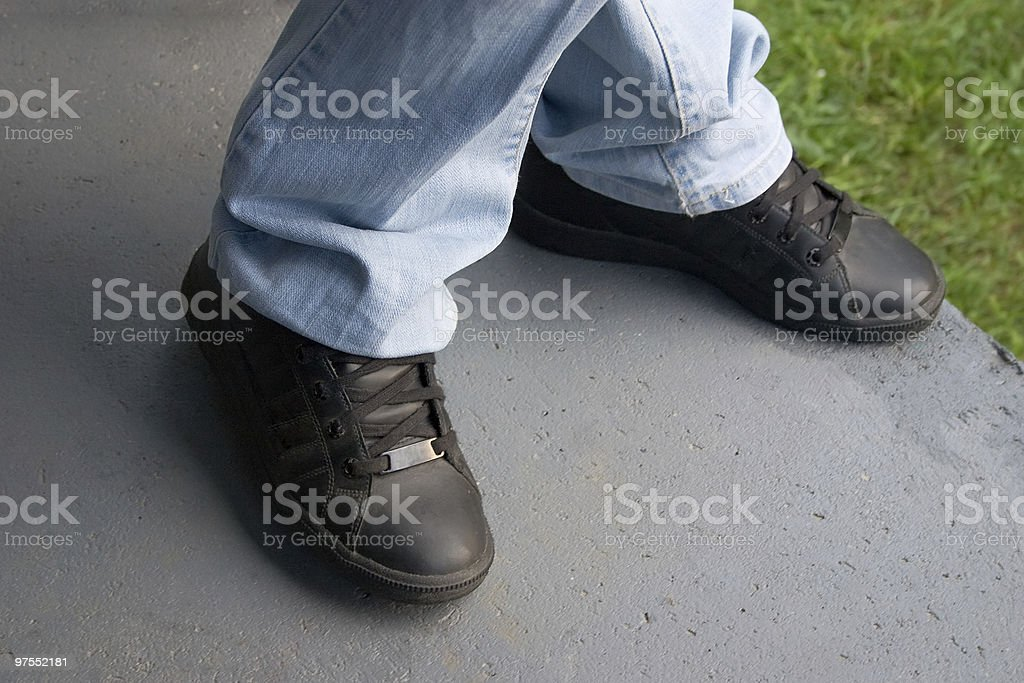 Jeans and snickers royalty-free stock photo