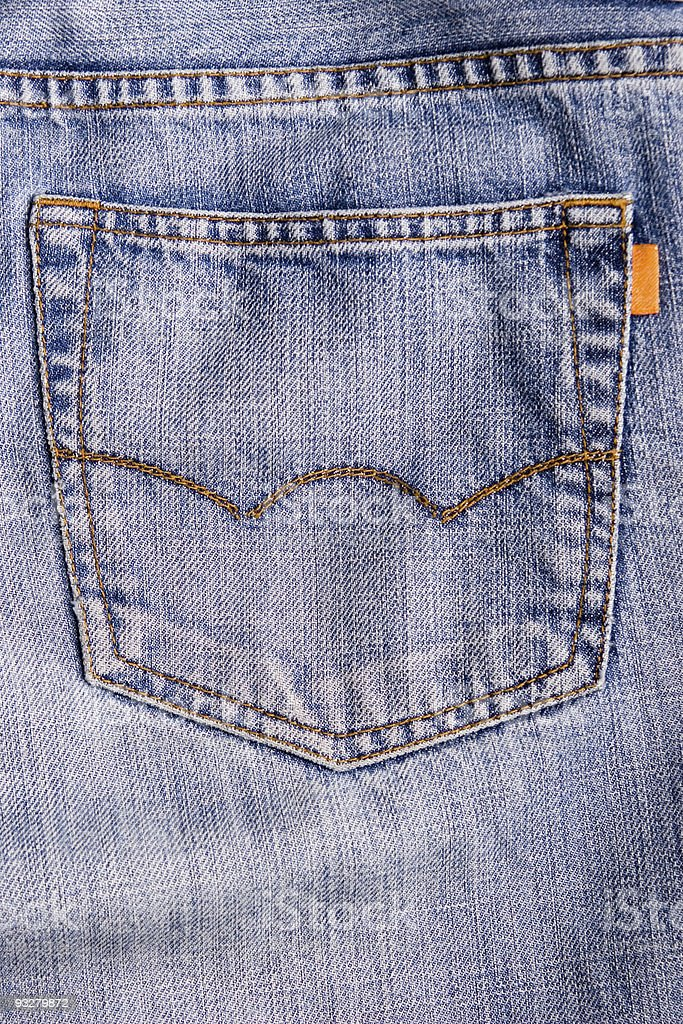 Jeans back pocket royalty-free stock photo