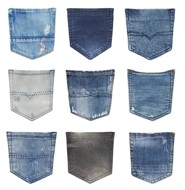 jeans back pockets - pocket stock photos and pictures