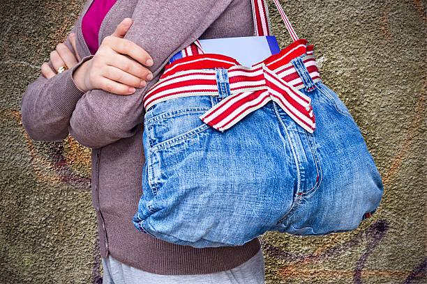 jeans-tasche - handtasche jeans stock-fotos und bilder