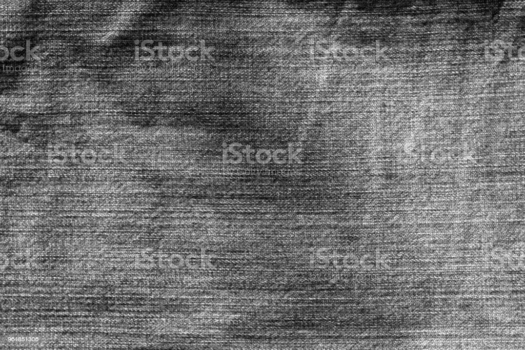 Jeans cloth pattern in black and white. royalty-free stock photo