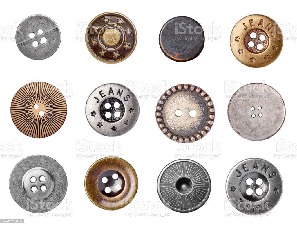 botón de los pantalones vaqueros del dril de algodón - foto de stock