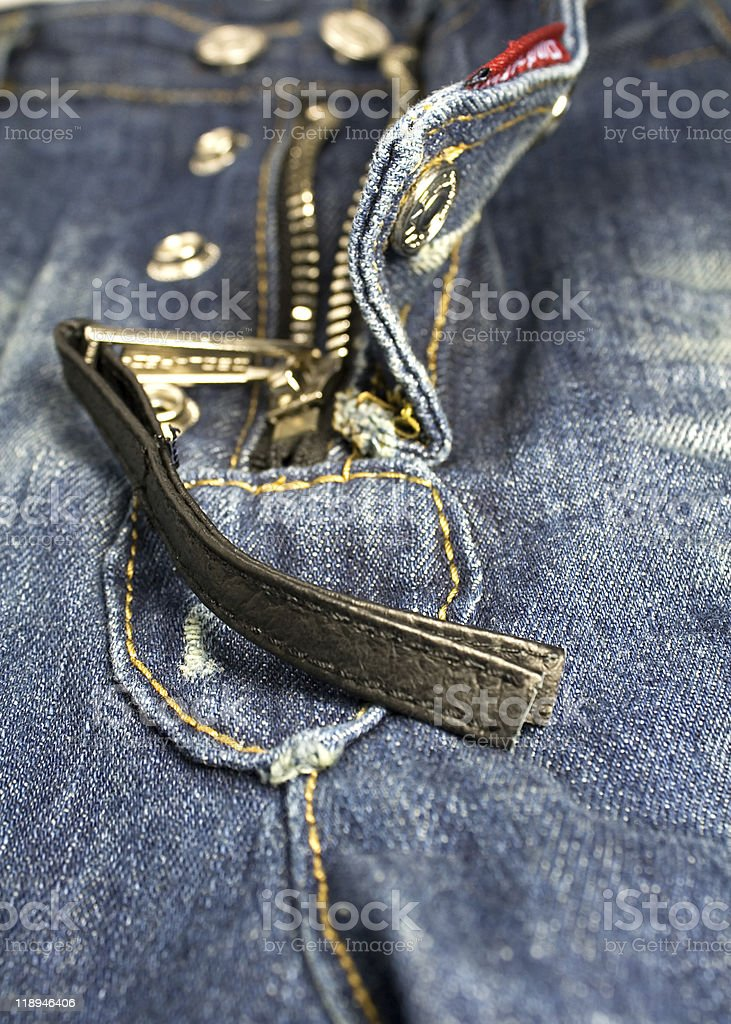 Jeans detail royalty-free stock photo