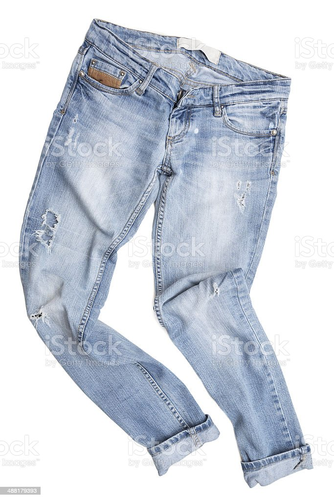 Jeans isolated on white background stock photo
