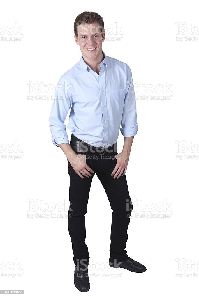Jeans Isolated on white royalty-free stock photo