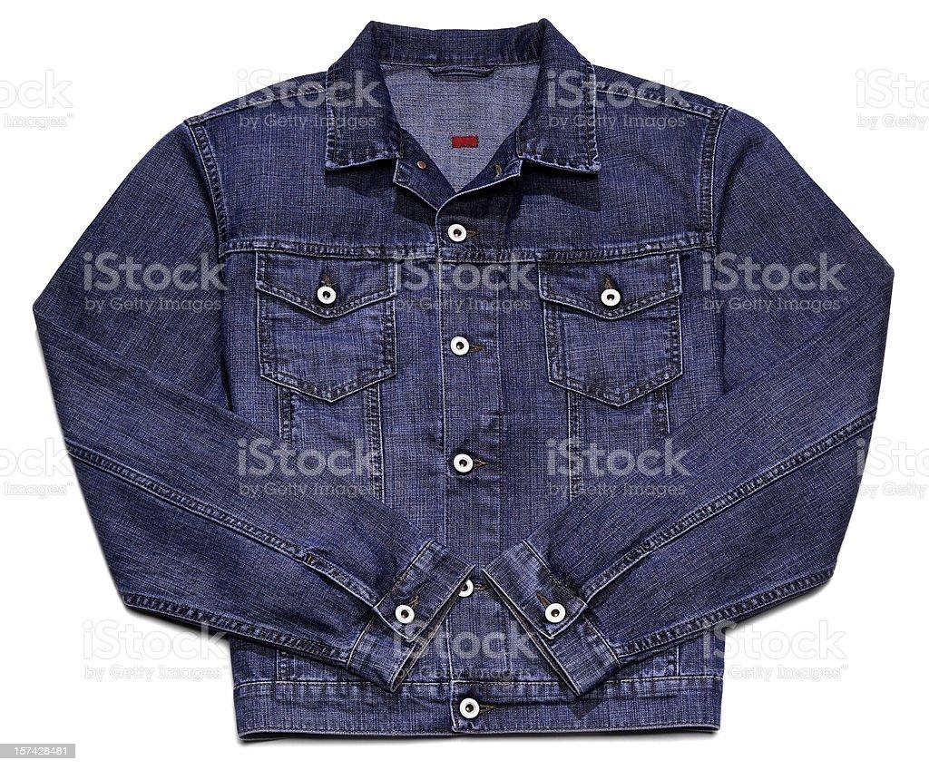 Jeans jacket isolated on white stock photo