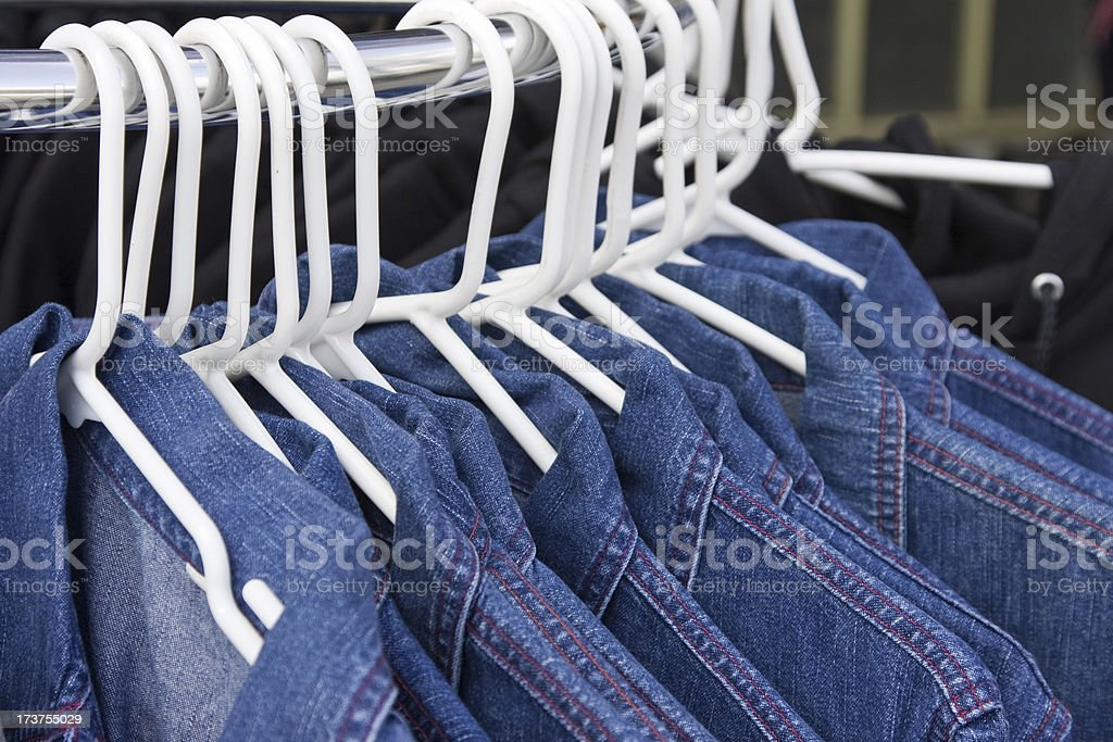 Jeans jackets, clothes serie # 3 royalty-free stock photo
