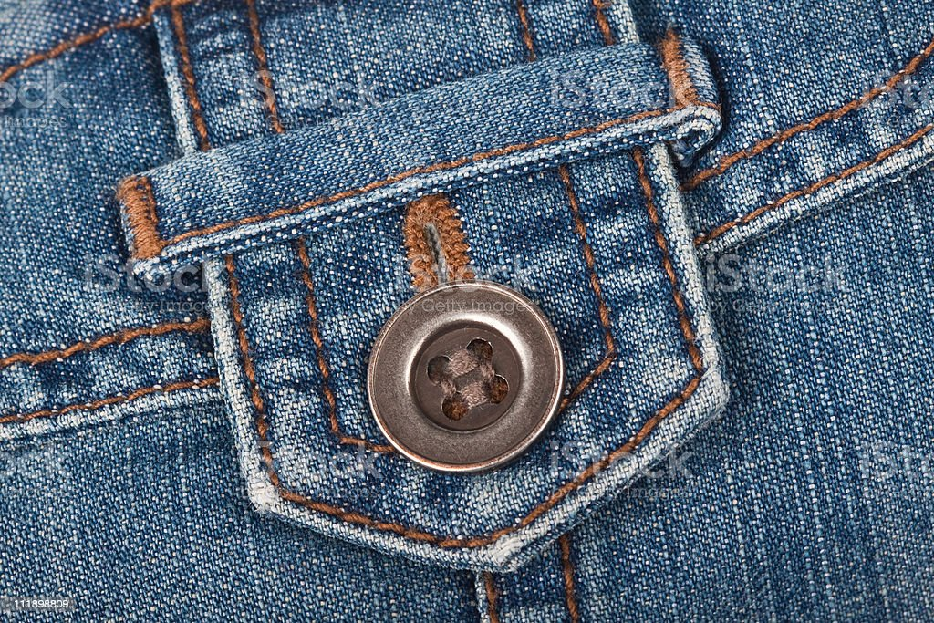 Jeans loops with a button royalty-free stock photo