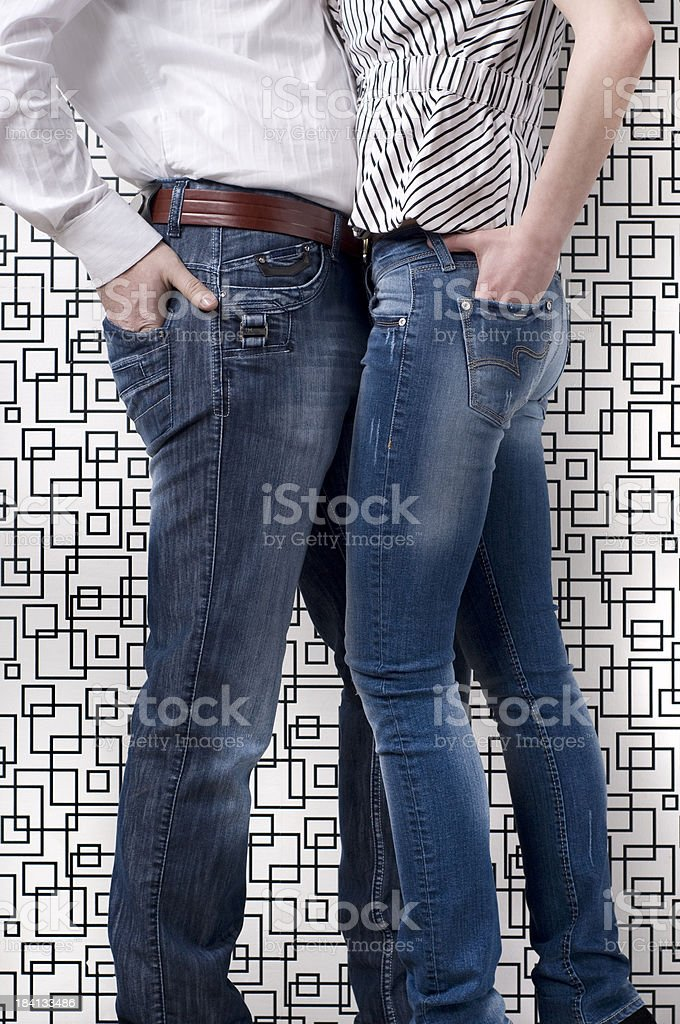 Jeans Models royalty-free stock photo