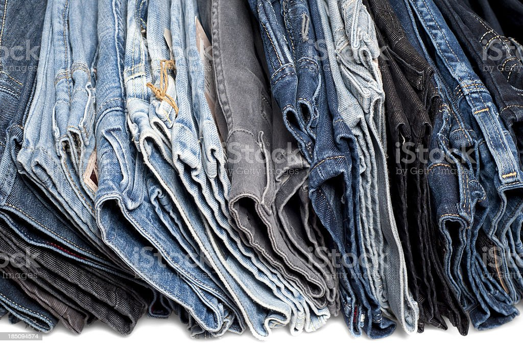 Jeans on a stack stock photo