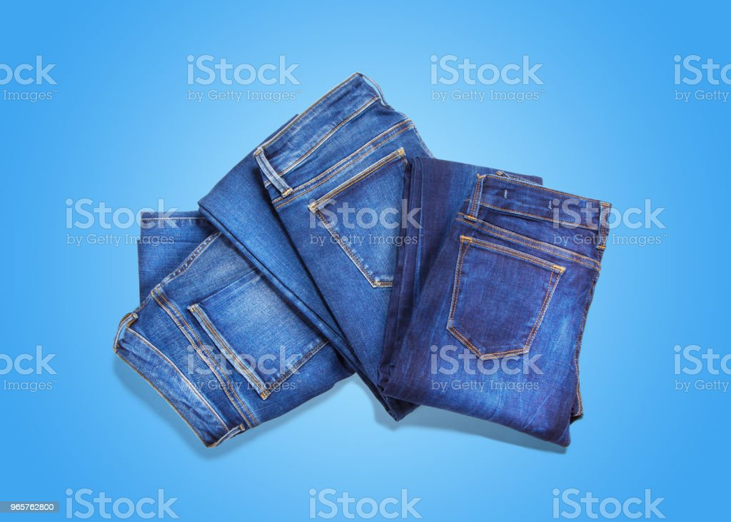 Jeans on blue background - Royalty-free Adult Stock Photo