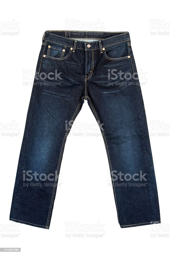 Jeans on isolated white background stock photo