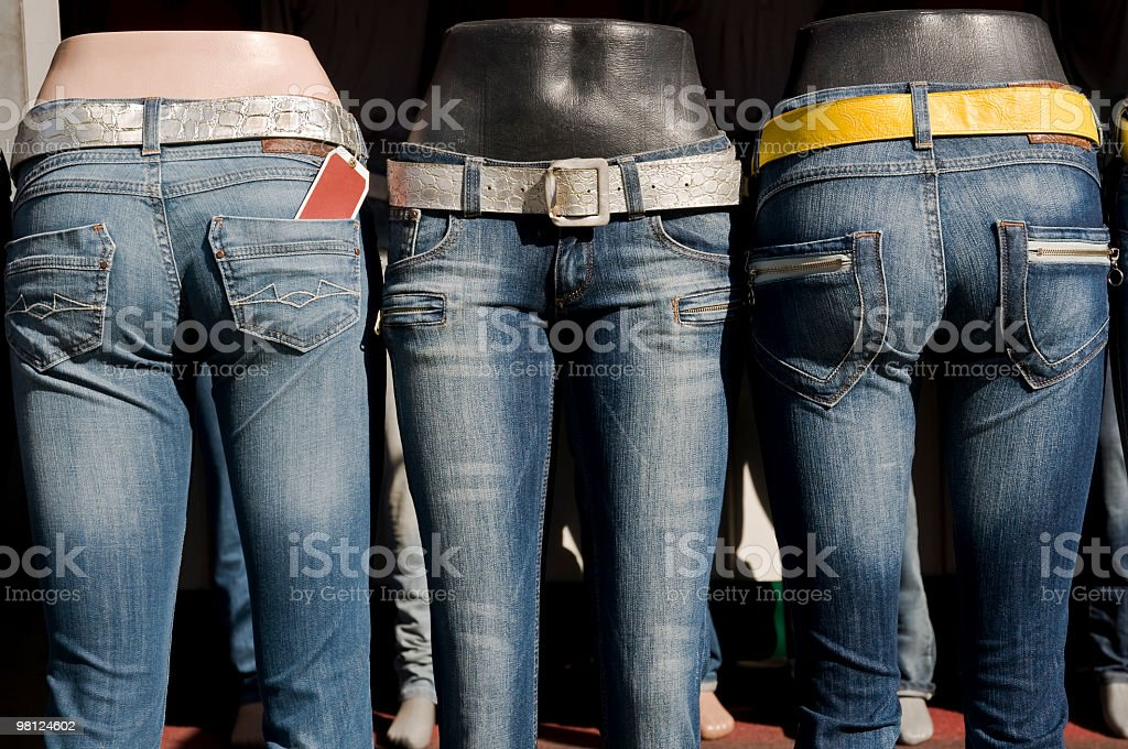 Jeans su manichini foto stock royalty-free