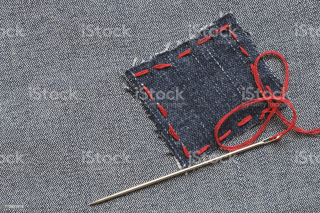 Jeans Patch stock photo