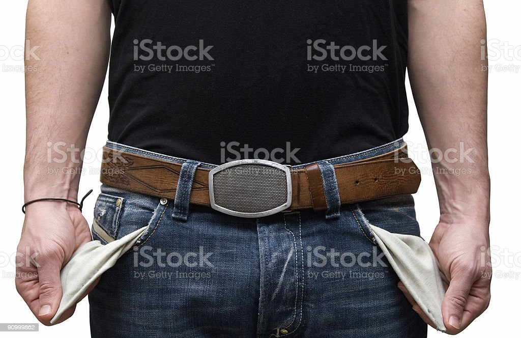 Jeans Pockets Out stock photo