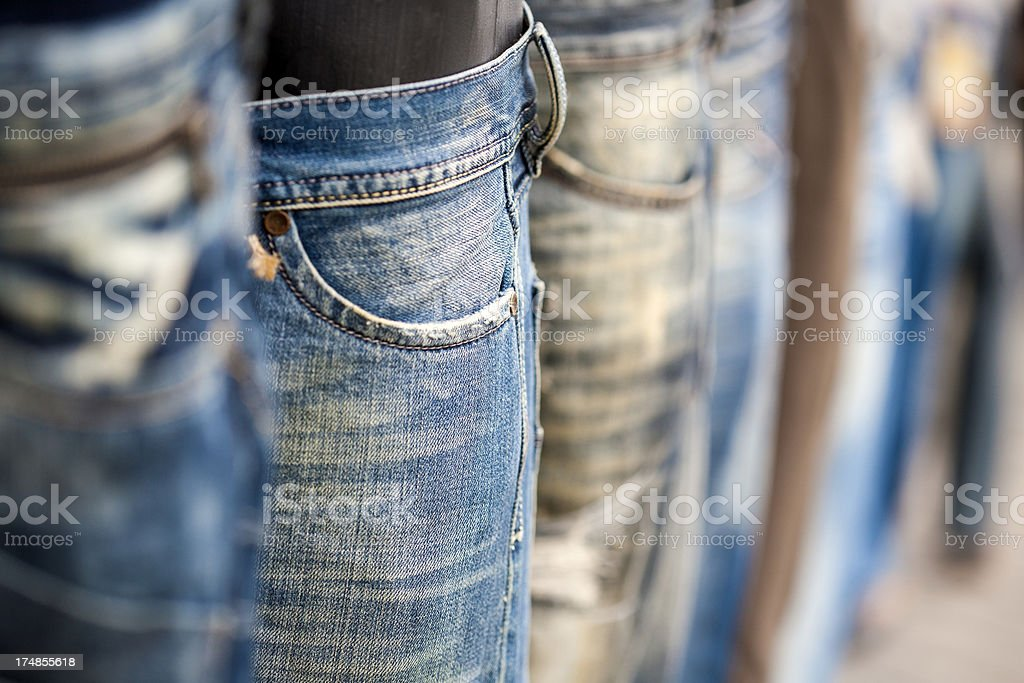 Jeans selection royalty-free stock photo