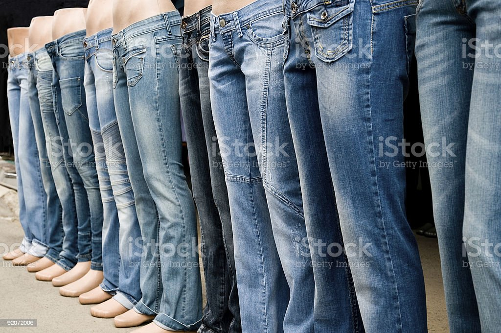 Jeans Shop stock photo