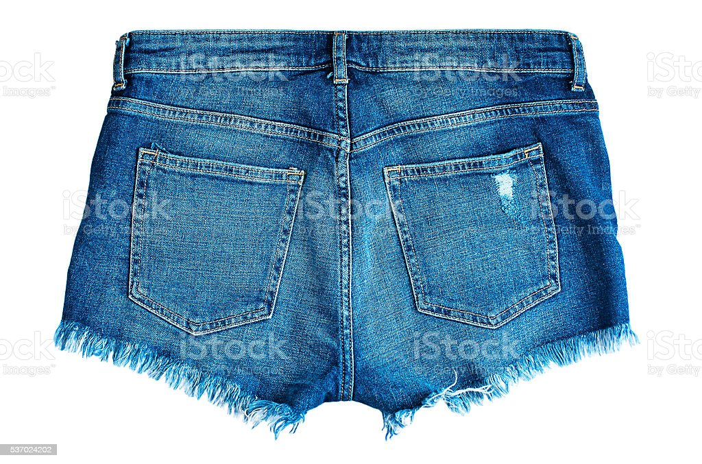 jeans short. back view. stock photo