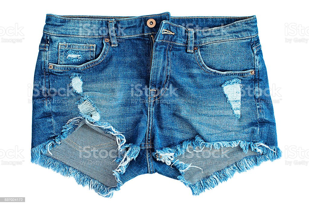 jeans short stock photo