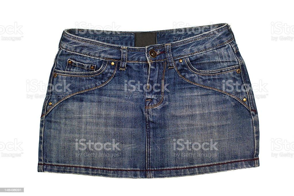 Jeans Skirt stock photo