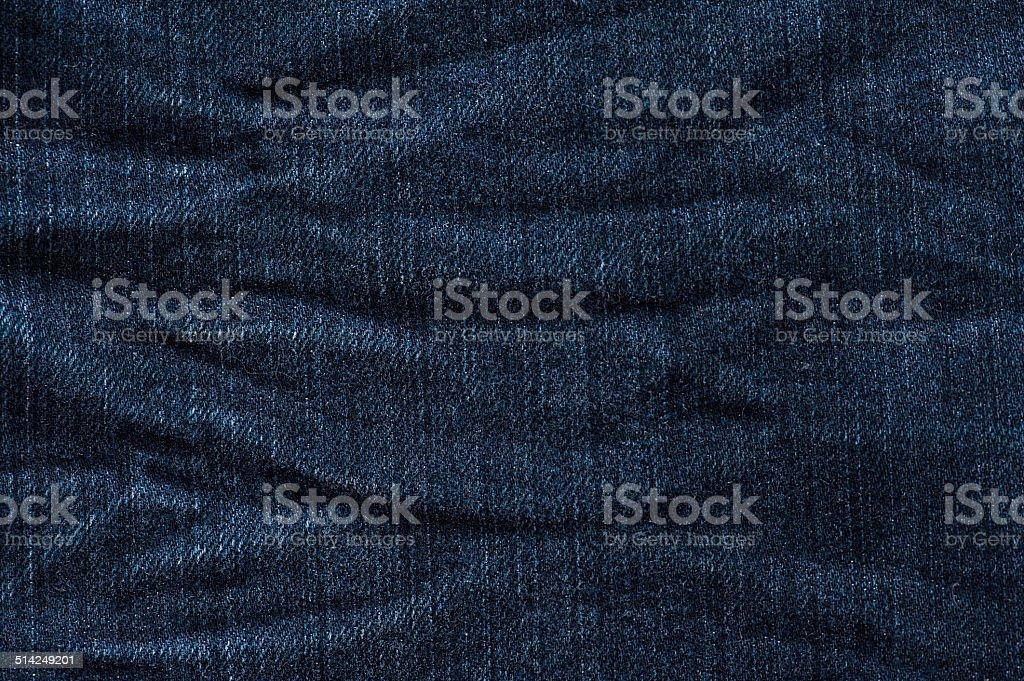 Textura de Jeans com ondulações com caimento - foto de acervo