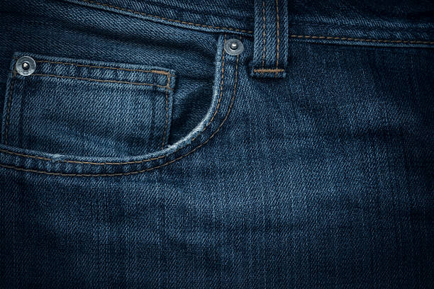 jeans texture - pocket stock photos and pictures