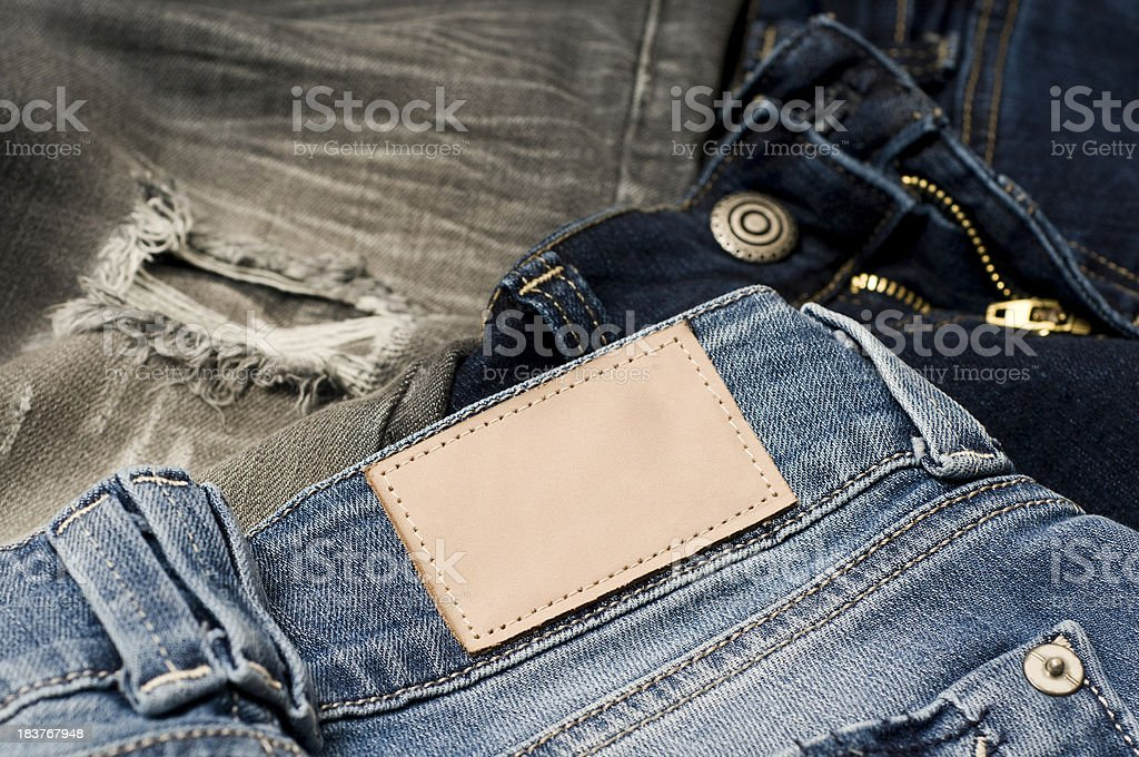 Jeans With A Blank Tab stock photo