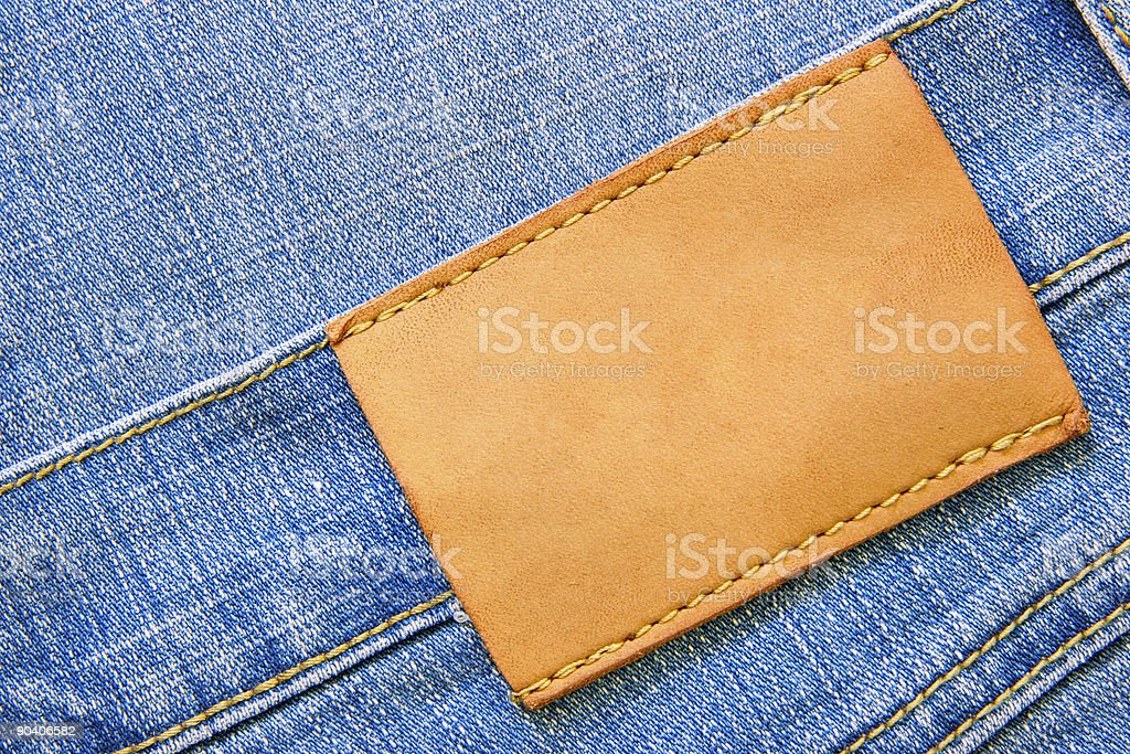 Jeans with blank label royalty-free stock photo