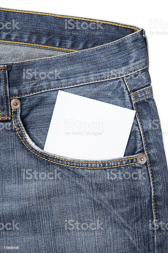 Jeans with Copy Space royalty-free stock photo