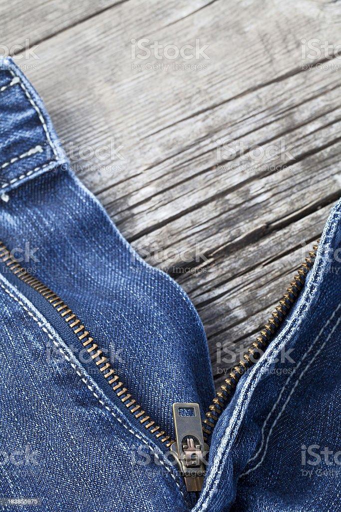 Jeans zip stock photo
