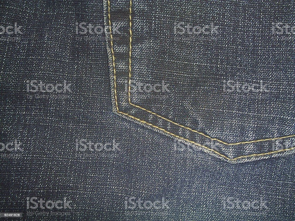 Jeans-close up of a pocket royalty-free stock photo