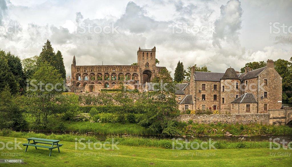 Jedburgh Abbey, Scottish Borders, Scotland, UK stock photo