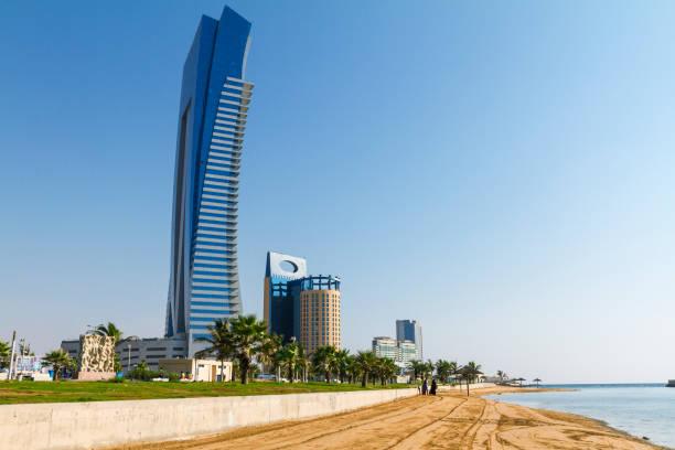 Jeddah Corniche and beach stock photo