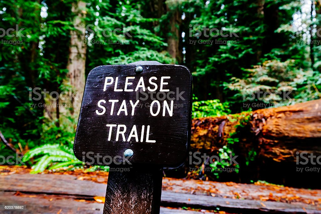 Jedediah Smith Redwoods State Park sign, California stock photo