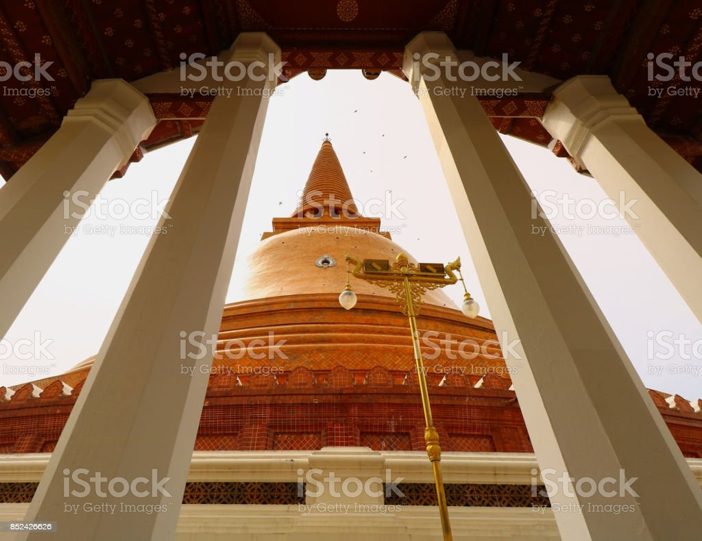 Jedi in Thailand where is the popular for Thai and foreigner to pray and visit at Nakornprathom stock photo
