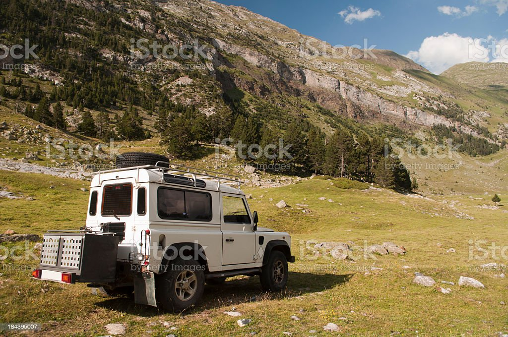 Jeep 4x4 on the mountain royalty-free stock photo