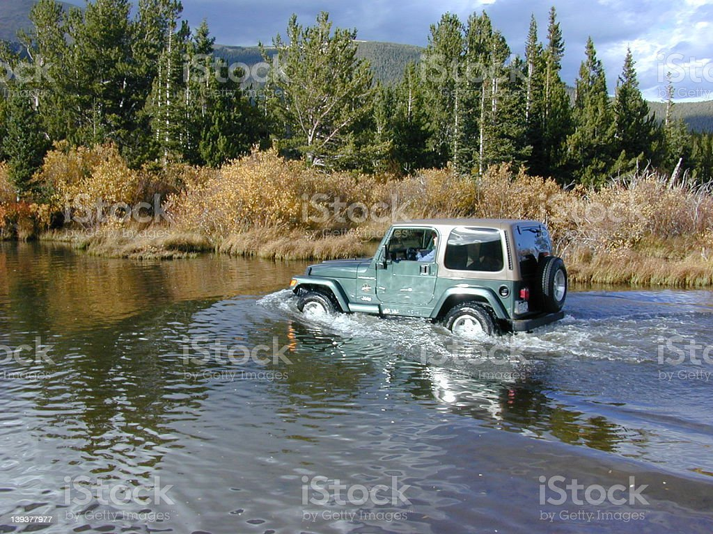 Jeep Crossing 1 royalty-free stock photo