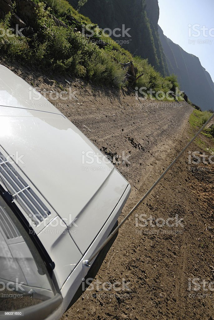 Jeep driving in country side royalty-free stock photo
