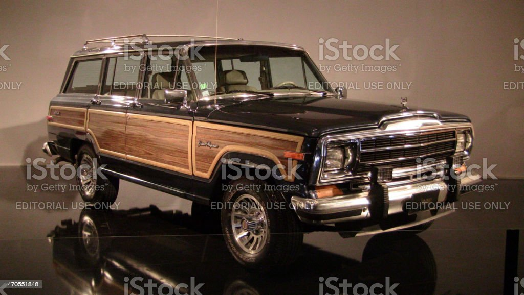 Jeep Grand Wagoneer on the motor show stock photo